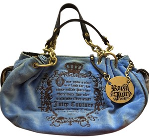 Juicy Couture Satchel in royal blue and dark brown/black