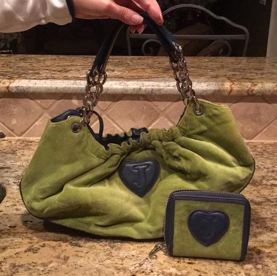 Juicy Couture Satchel in green and blue