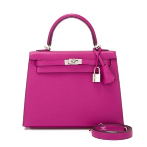Hermès Satchel in Rose Pourpre