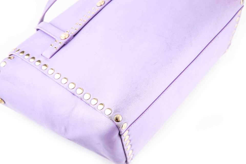 Versace Lilac with Studs Purple Nappa Leather Satchel - Tradesy b60836aa13409