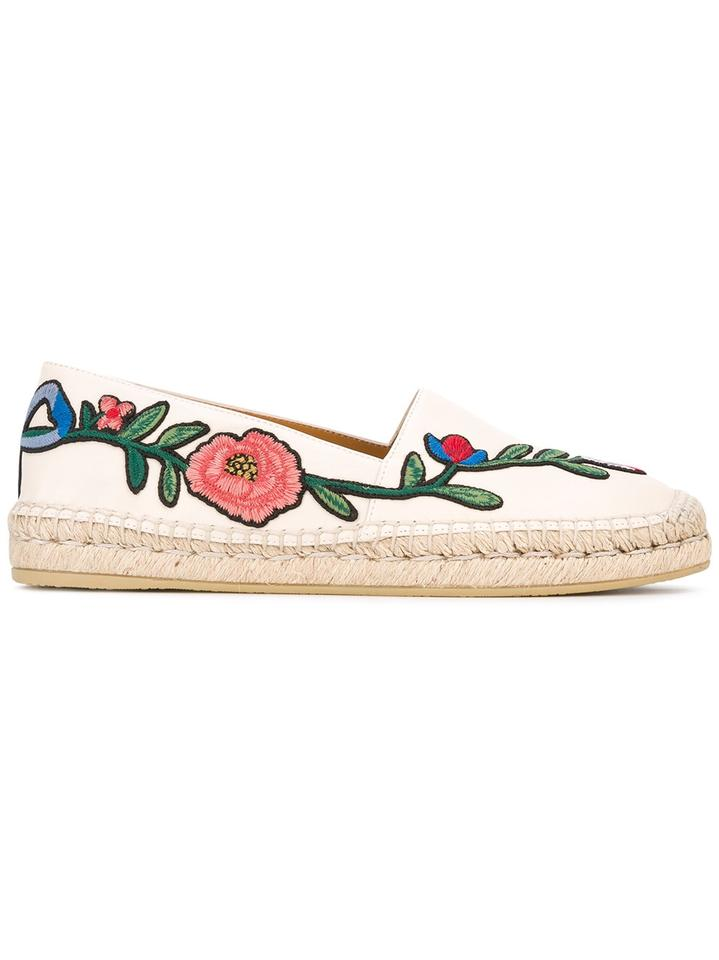 b58b649fec1 Gucci Pilar Loafers Espadrilles Floral Loafers Size 36 White Flats Image 6.  1234567