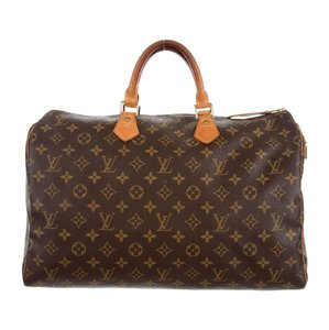 Louis Vuitton Satchel in brown, tan, natural, monogram