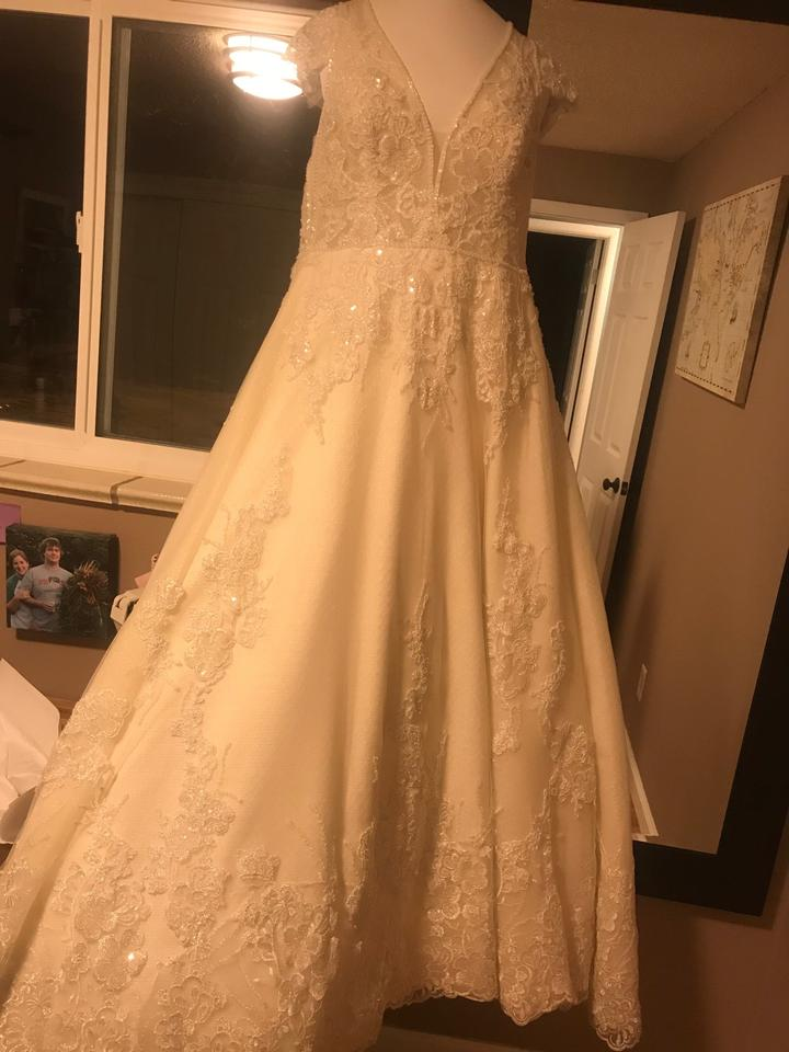 acba159668b3 Sottero and Midgley Champagne Gown - Alba Color Vintage Wedding Dress Size  16 (XL