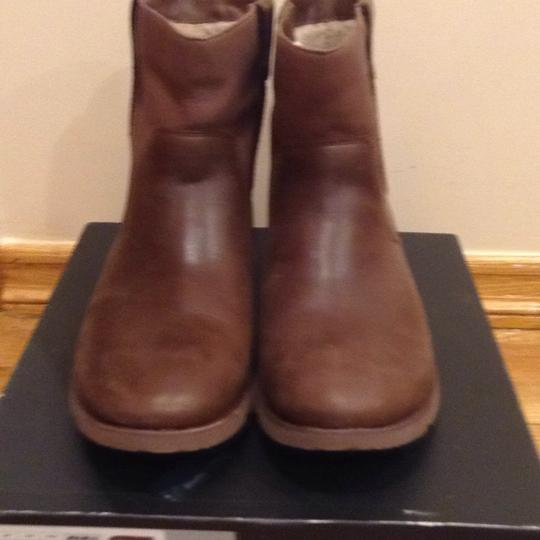 UGG Australia Brown Leather Boots Image 3