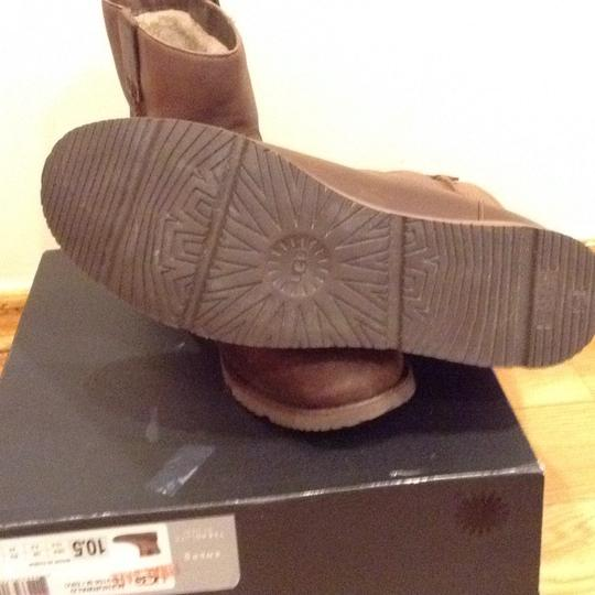 UGG Australia Brown Leather Boots Image 4