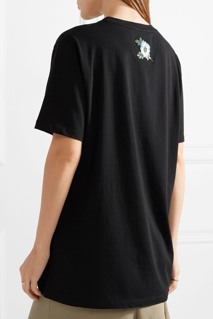 Gucci Logo Print Embroidered Vintage T Shirt Black