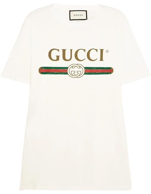 Preload https://item1.tradesy.com/images/gucci-white-logo-t-shirt-xx-large-tee-shirt-size-8-m-22652055-0-1.jpg?width=400&height=650