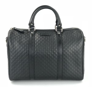 Gucci Satchel in Black Microguccissima