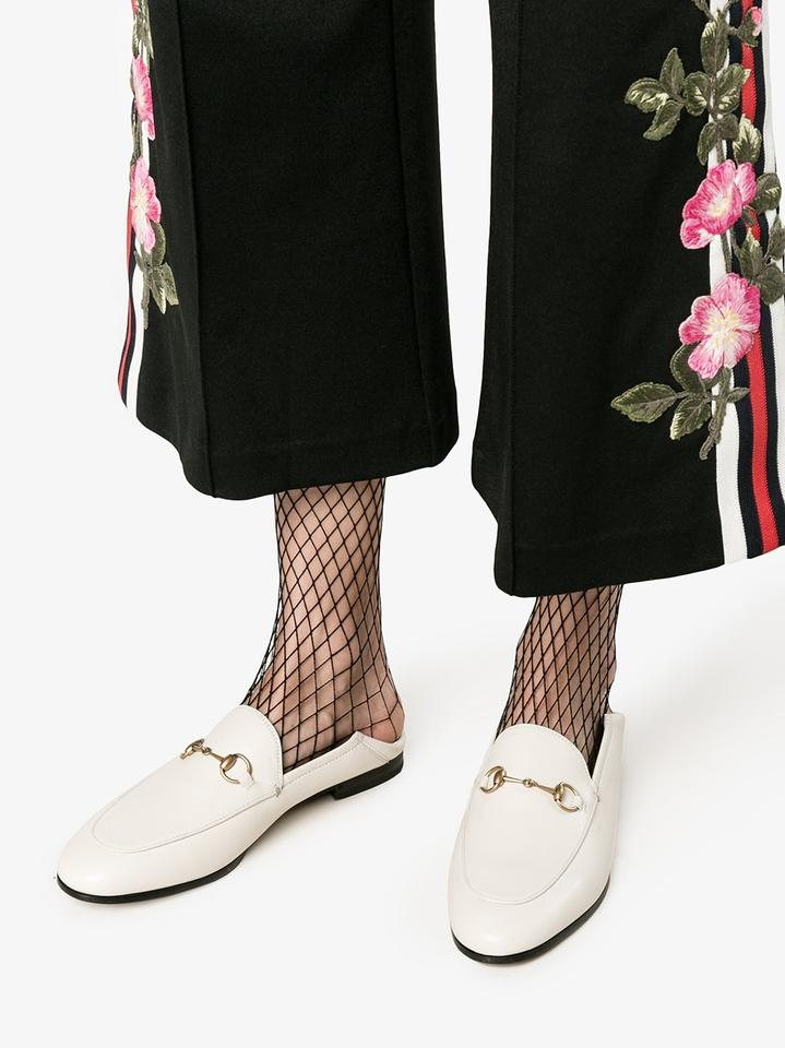 0040cd3b2 Gucci Brixton Mule Loafer Princetown Horseblt White Flats Image 8. 123456789
