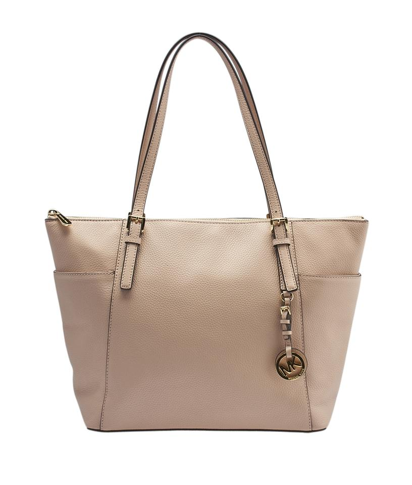 be4345a880ed Michael Kors Jet Set East West (141447) Pink Leather Tote - Tradesy