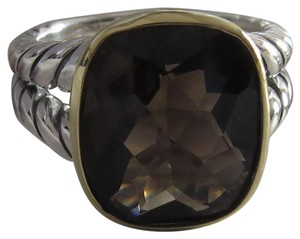 David Yurman Refurbished by DY - Noblesse 14mm x 12mm Smokey Quartz SS/18k Ring