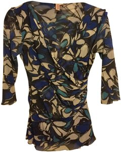 Sweet Pea by Stacy Frati Top Blue, Black and White