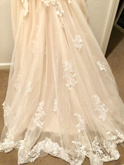 Maggie Sottero Blush/Ivory Marianne Formal Wedding Dress Size 8 (M) Image 6