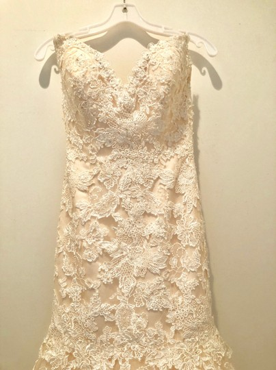 Maggie Sottero Blush/Ivory Marianne Formal Wedding Dress Size 8 (M) Image 7