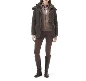 Barbour Waxed Cotton Equestrian Waxed Fall Olive Jacket