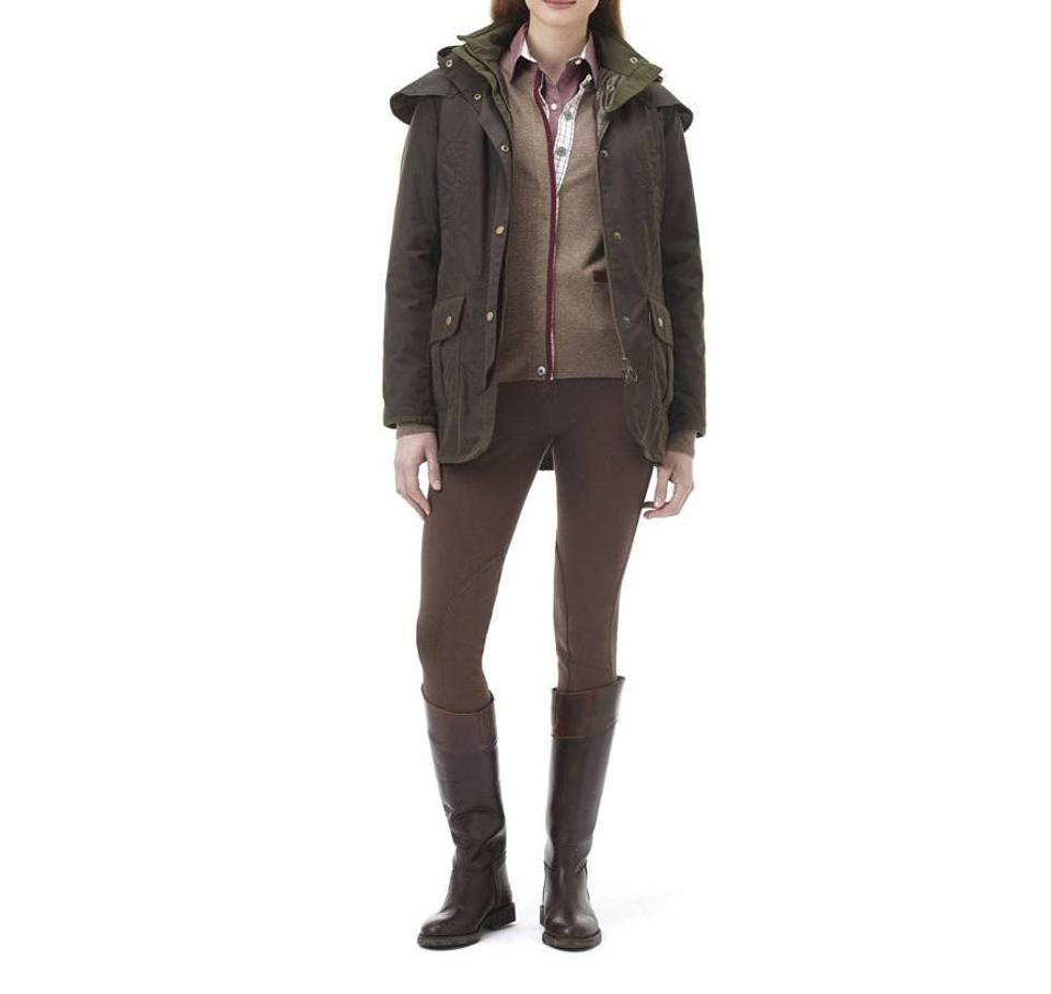 67eae3ed948a Barbour Waxed Cotton Equestrian Waxed Fall Olive Jacket Image 0 ...