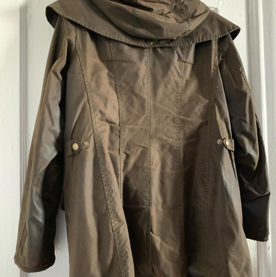 5cbfce7a572e Barbour Olive Bonnington Waxed Jacket Size 6 (S) - Tradesy