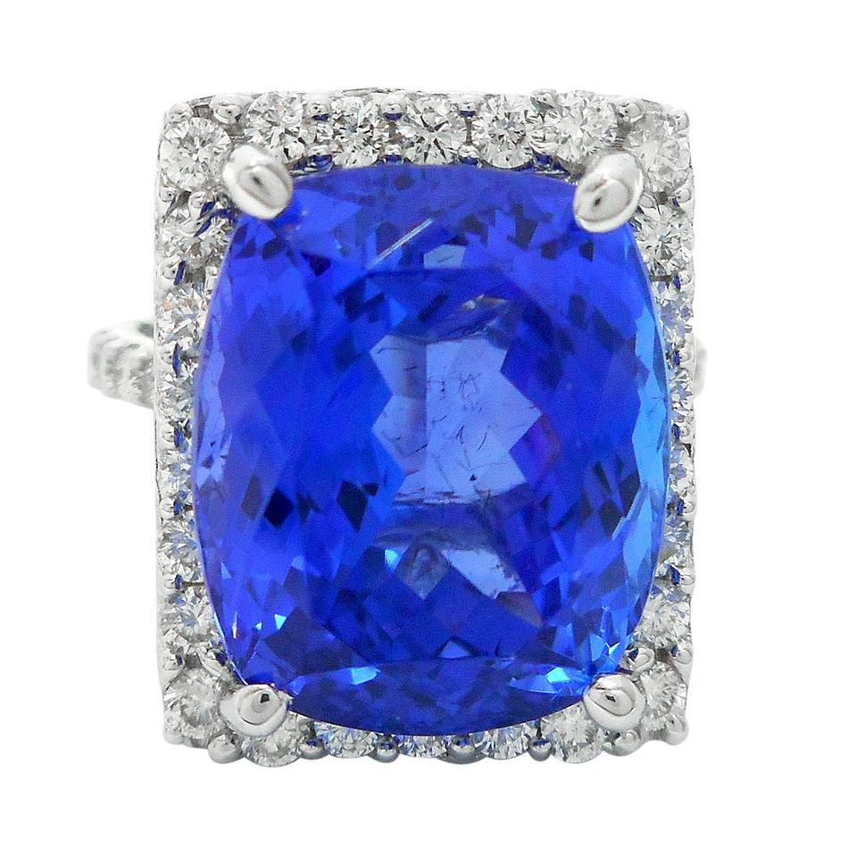 white ring certified tanzanite ctw gia gold pin and diamond