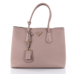 Prada Leather Tote in light taupe