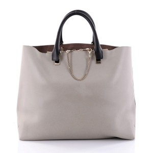 Chloé Leather Tote in Grey and Navy
