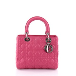 Dior Leather Tote in pink