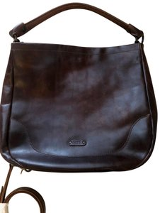 Frye Melissa Washed Distressed Dark Brown Leather Hobo Bag - Tradesy 203855b0a799c