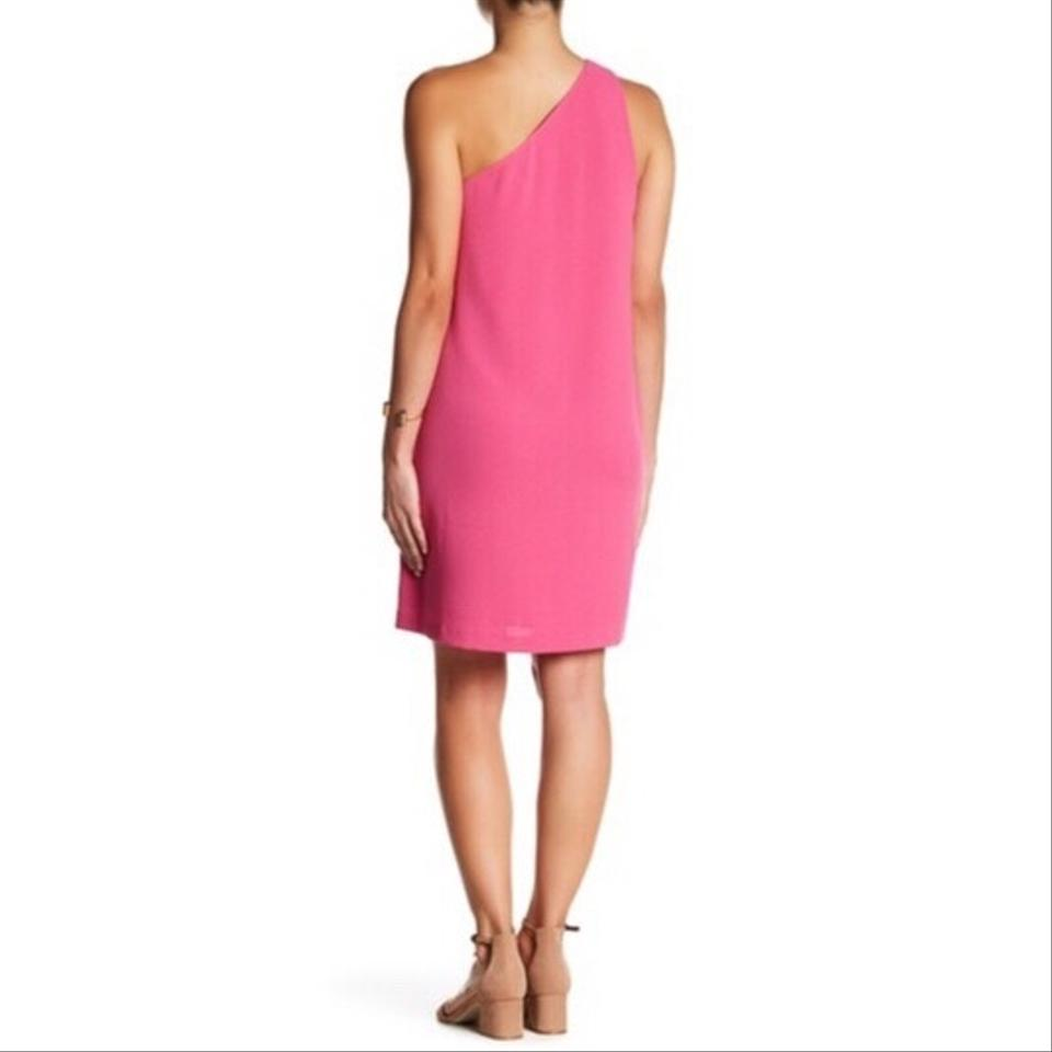 Charles Henry New Fuschia Pink One Shoulder Shift Mid-length ...