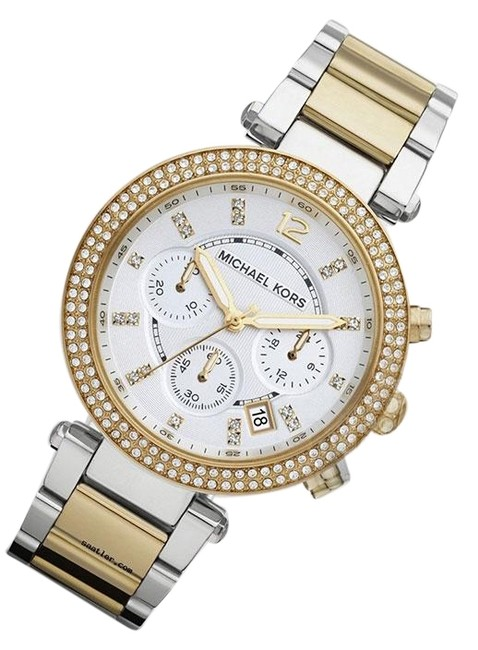 Item - Gold Silver New Parker Glitz Dial Two-tone Ladies Mk5626 Watch