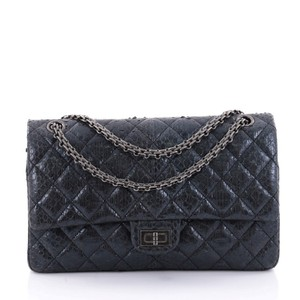 74f6cc1c0c89 Added to Shopping Bag. Chanel Exotic Shoulder Bag. Chanel 2.55 Reissue  Handbag Quilted 226 Blue Metallic Python Skin Leather ...