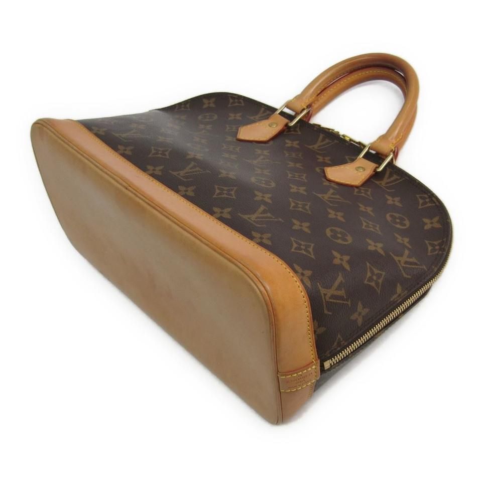 Louis vuitton brown monogram alma tote tradesy for Louis vuitton miroir alma bag price