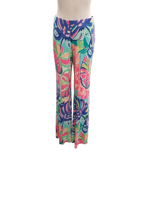 Item - Multi Color L Knit Exotic Garden Georgia May Palazzo Pants Size 12 (L, 32, 33)