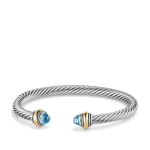 David Yurman David Yurman 5MM Blue Topaz Cable Bracelet