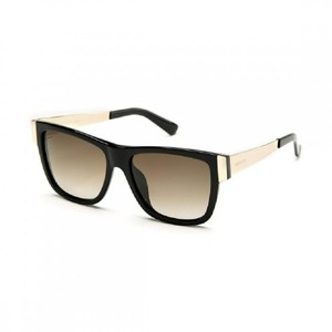Gucci NEW Gucci GG 3718/S Oversized Flat Top Sunglasses in Black Gold Metal