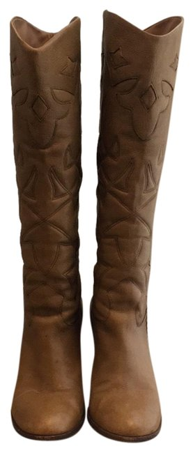 Daniblack Tan Cowboy Boots/Booties Size US 9 Regular (M, B) Daniblack Tan Cowboy Boots/Booties Size US 9 Regular (M, B) Image 1