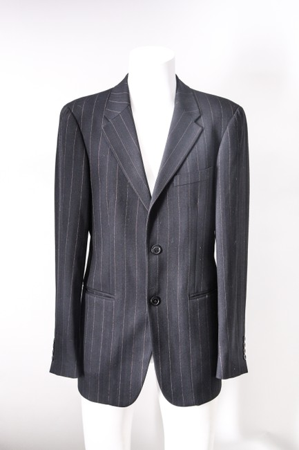 Gianfranco Ferre Suit Set Black/Stripe Tuxedo Gianfranco Ferre Suit Set Black/Stripe Tuxedo Image 1