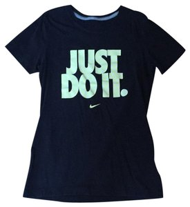 Nike T Shirt black with yellow