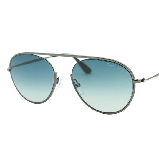 Tom Ford New 2018 Keith-02 FT0599 08W Round 55mm Bridge-less Sunglasses