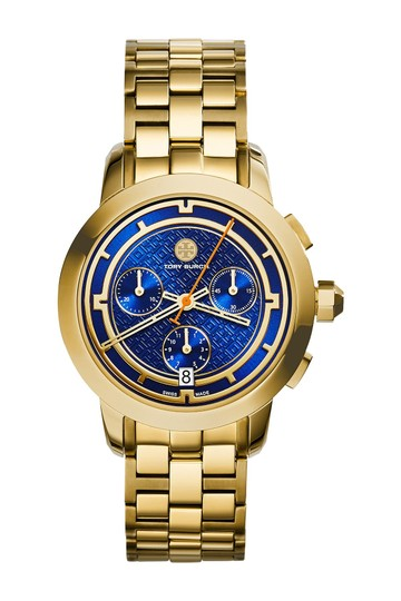 Preload https://item1.tradesy.com/images/tory-burch-gold-tone-navy-chronograph-tb1013-watch-22654255-0-1.jpg?width=440&height=440
