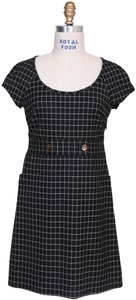 Juicy Couture Grid A-line Party Scoop Neck Dress