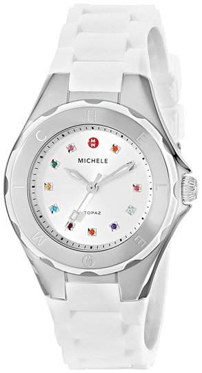 Preload https://item1.tradesy.com/images/michele-white-silver-small-jelly-bean-colorful-topaz-stones-mww12p000001-watch-22654375-0-1.jpg?width=440&height=440