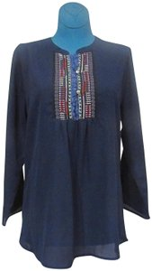 Papermoon Embroidered Top Blue, Gray, Black, Green, Red, White, Purple