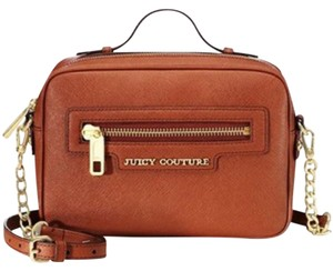 Juicy Couture Leather Satchel in chestnut