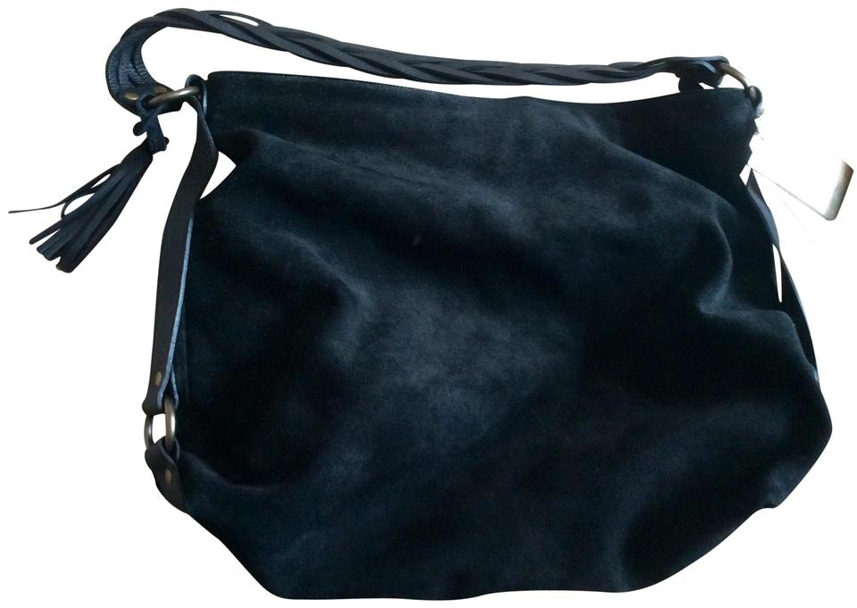 Eileen Fisher Hobo Suede Leather Bohemian Boho Shoulder Bag