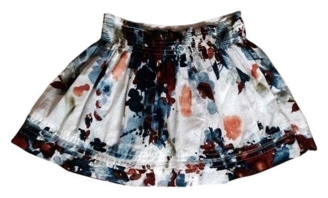 Abercrombie & Fitch Mini Skirt White w Navy and Rust