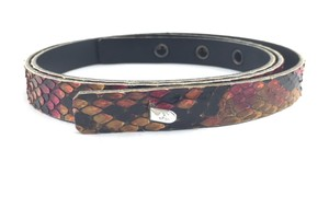 Chanel #16050 Rare CC Python skin leather Belt Size 75/30
