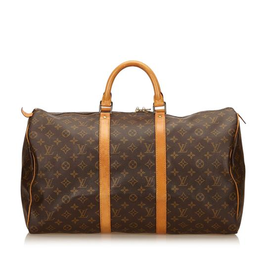 Preload https://item3.tradesy.com/images/louis-vuitton-keepall-45-brown-canvas-x-monogram-canvas-x-leather-x-others-weekendtravel-bag-22655017-0-0.jpg?width=440&height=440