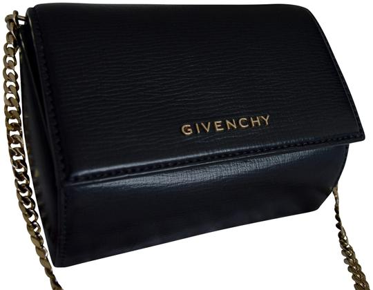 cdf05bcc1d Givenchy Pandora Box Micro Chain Black Leather Shoulder Bag - Tradesy