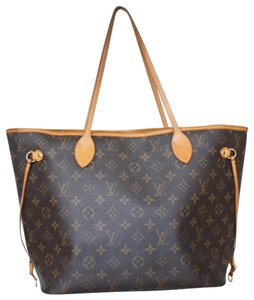 Louis Vuitton Vintage Monogram Leather Luxury European Tote in brown
