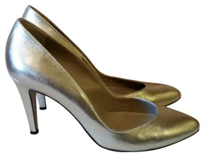 Coye Nokes Italy Leather Nappa Leather Gold Pumps