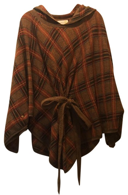 Item - Multicolor Charlie Robin Poncho/Cape Size OS (one size)